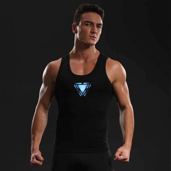 Avengers 4 Iron Man Shirts Men Cotton Lycra Compression Shirts Raglan Sleeve 2019 Cosplay Costume Tops Male