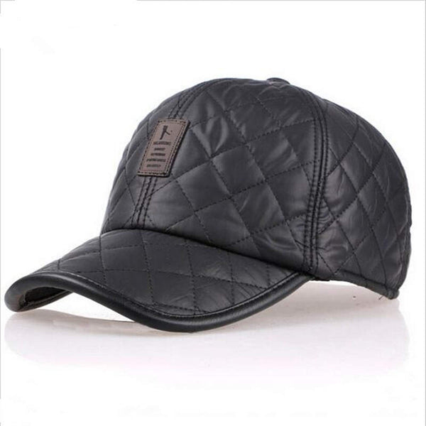 High quality baseball cap men autumn winter Fashion Caps waterproof fabric Hats Thick warm earmuffs baseball cap 4 colors