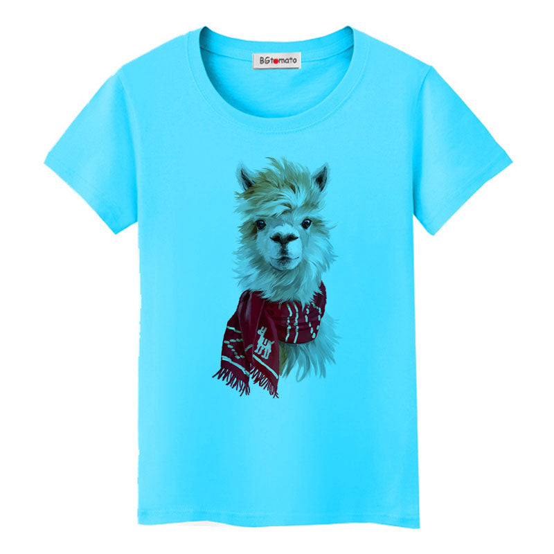 3D Alpaca tshirt super cool funny 3D animals t-shirt hot sale popular style lovely tee shirts fashion street shirt