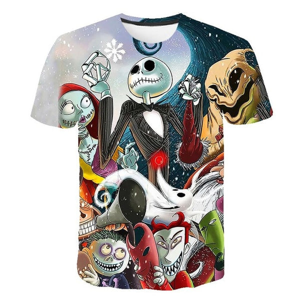 New summer 3D short sleeve T-shirt Japanese cartoon casual short sleeve 3DT T-shirt manufacturers direct sales