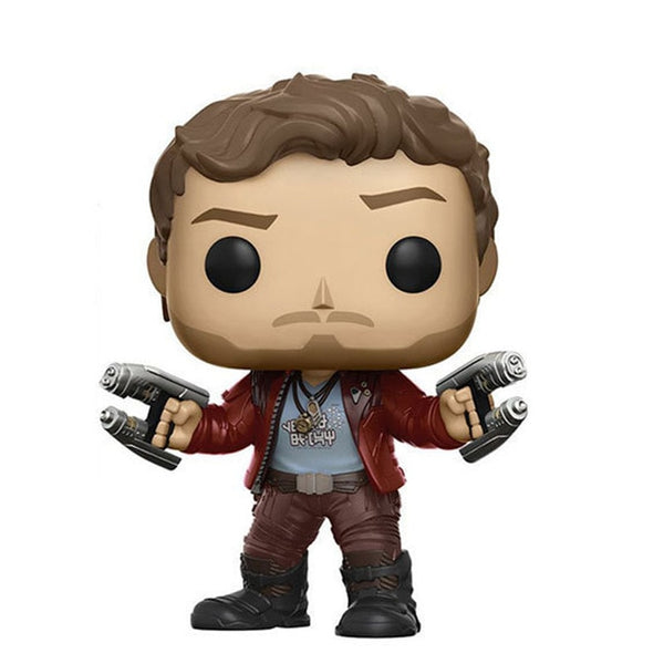FUNKO POP Guardians of the Galaxy Star Lord Vinyl Doll Marvel Action Figures Collection Model Car Decoration Figure Toys