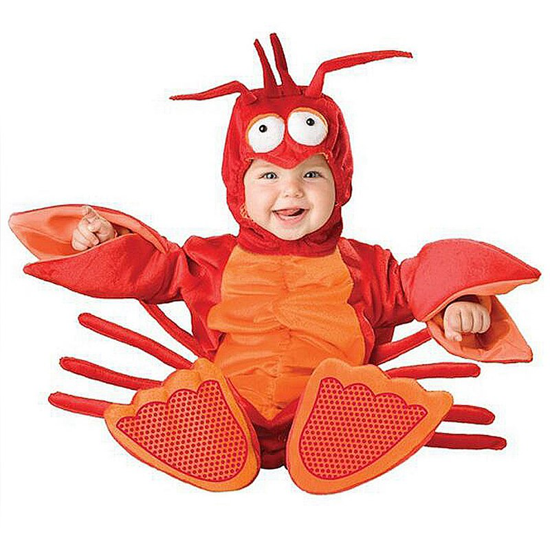 New Baby Lobster Dress up Costume Halloween Christmas Purim Romper Animals Clothes Kids Cosplay Costume Children Clothing Set