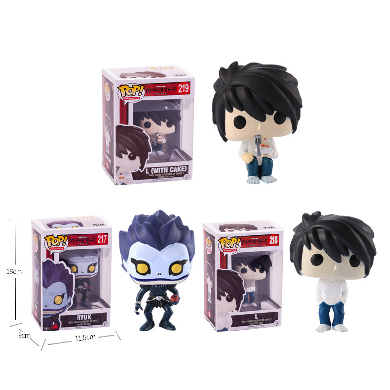 FUNKO POP Death Note L and L(with cake) RYUK Vinyl Doll Action Figures Collection Model Figure Toys Gifts Action Toys
