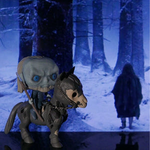 Funko Pop Game of Thrones Night King Mounted White Walker #60 Vinyl Action Figure Toy Game of Thrones Figure Collection Hot Toys