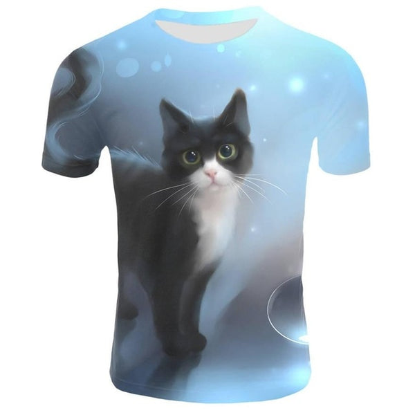 2019 Surprised T-shirt Fluffy CuddlyCat Faces Fish T ShirtWomen Graphic Tees Women
