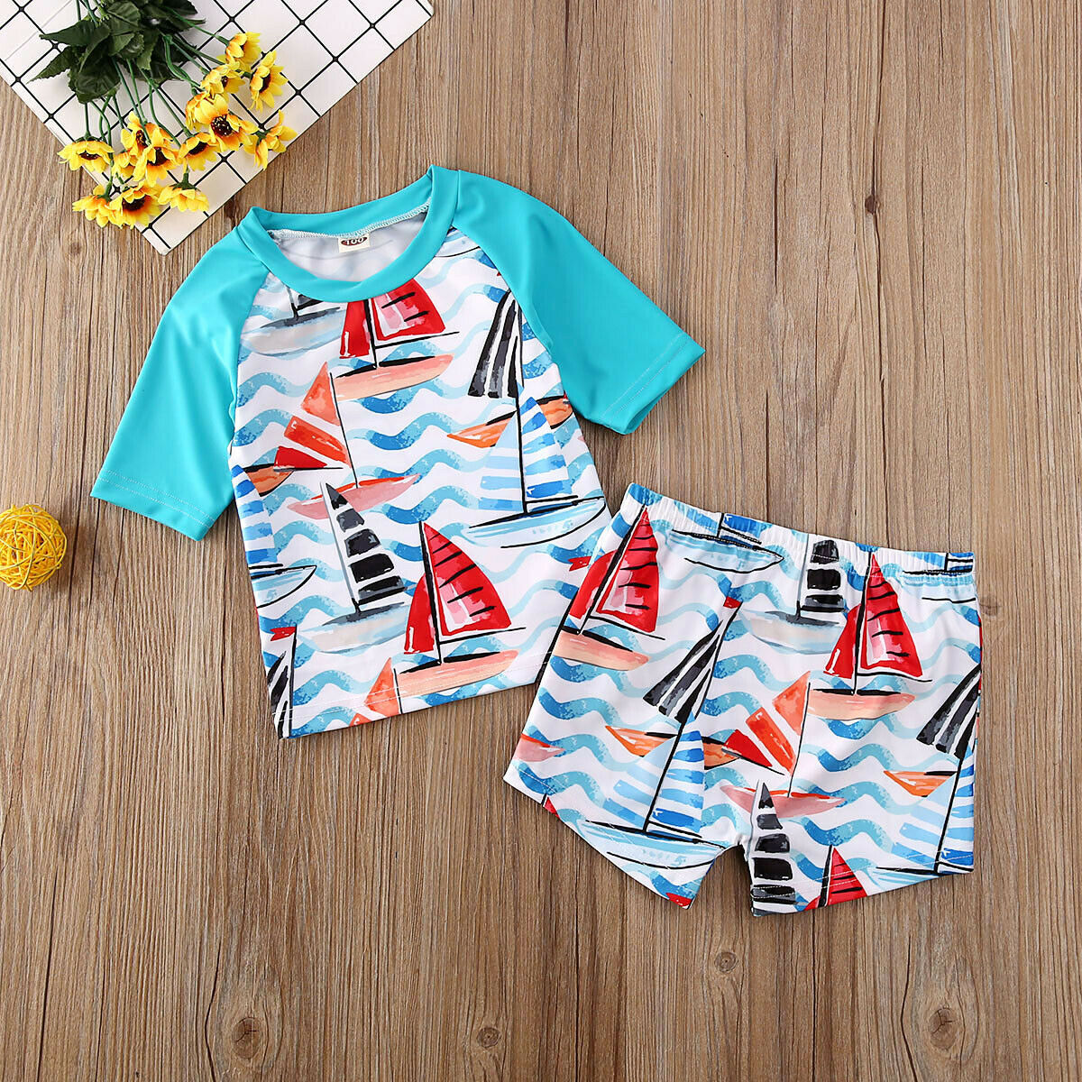 pudcoco 2020 Hot New Summer Boy Baby Swimwear 2PCS Set Swimming Suit
