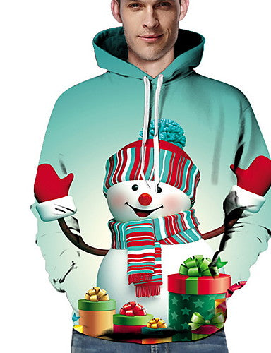 Men's Casual Hoodie - Cartoon White US34 / UK34 / EU42