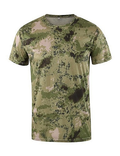 Men's Daily T-shirt - Camo / Camouflage Army Green