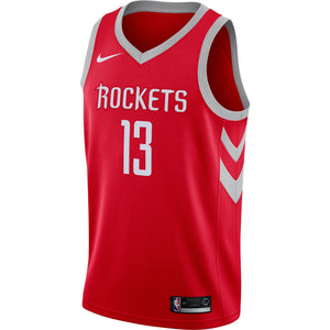 Men's Houston Rockets James Harden Nike White Swingman Jersey - Association Edition