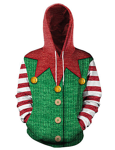 Men's Street chic / Christmas Hoodie - Print / Bird Green