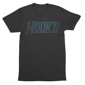 Hook'd Distress Logo Tee