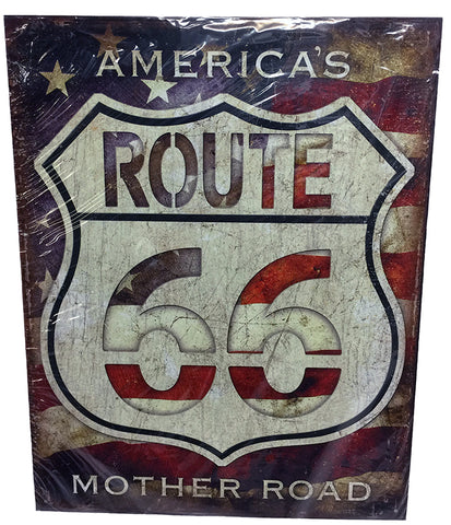 America Route 66 Mother Road Sign