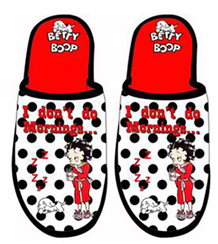 Betty Boop I Don't Do Morning Slippers