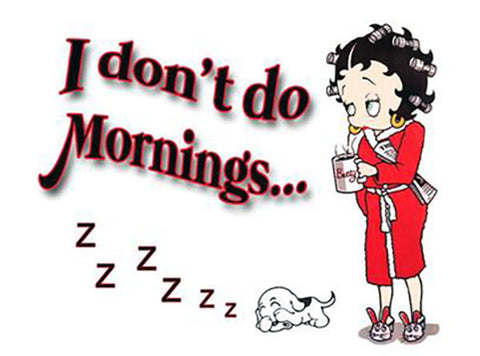 Betty Boop I Don't Do Mornings Magnet
