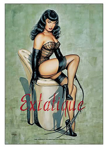 Bettie Page Extatique Fabric Poster