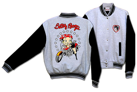 Betty Boop Motorbike Baseball Jacket
