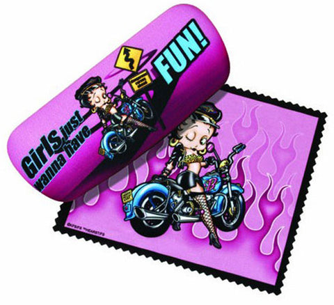 Betty Boop Biker Glasses Case