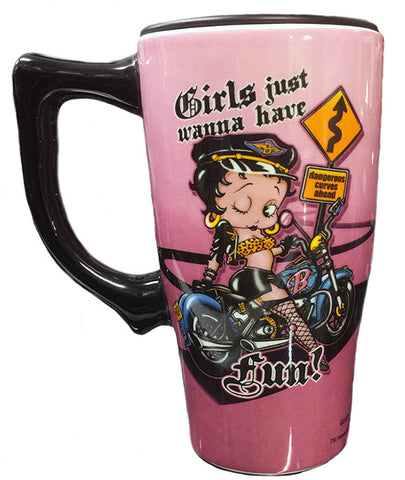 Betty Boop Biker Travel Mug