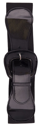Black Elastic Wide Belt