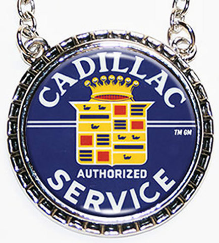 Cadillac Service Hub Cap Necklace