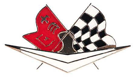 Chevrolet Corvette GM Checkered Flag Drawer Pull