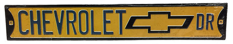 Chevrolet Drive Embossed Street Sign
