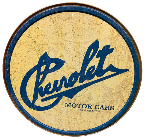 Chevrolet Motor Cars Sign