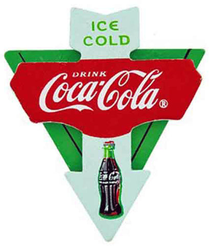 Coke Cola 3D Triangle Wooden Magnet