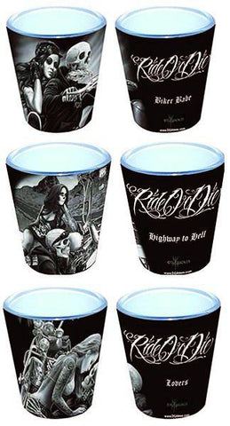DGA Ride Or Die Shot Glasses Set Of 3