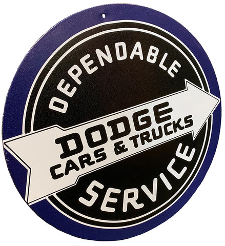 Dependable Dodge Round Sign