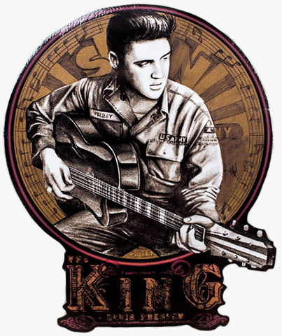 Elvis In His Younger Days Decal