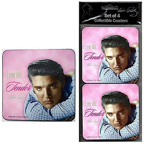 Elvis Love Me Tender Coaster Set of 4
