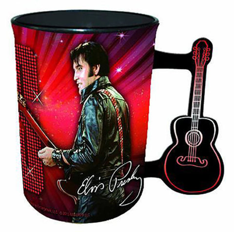 Elvis Name In Lights Guitar Mug