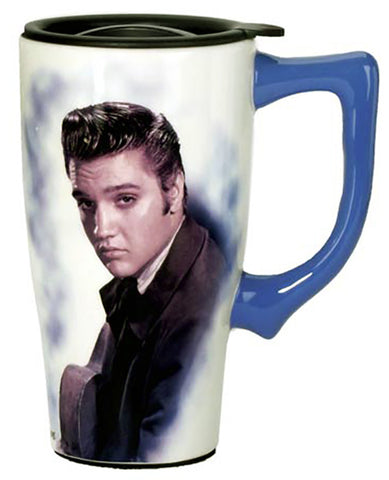 Elvis Portrait Travel Mug