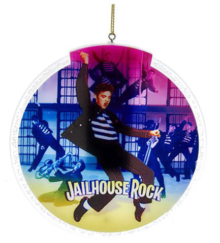 Elvis Presley Jailhouse Rock 4-Inch LED Disc Ornament