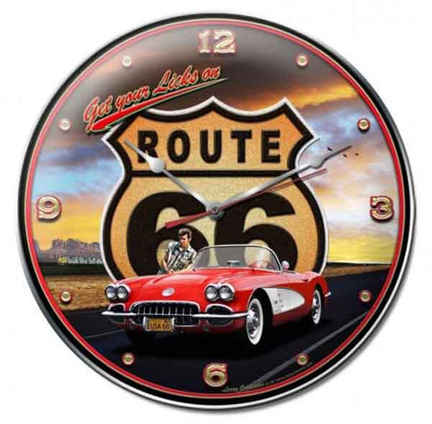Get Your Licks on Route 66 Clock