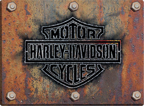 Harley Davidson Rusty Bar & Shield Emblem Sign