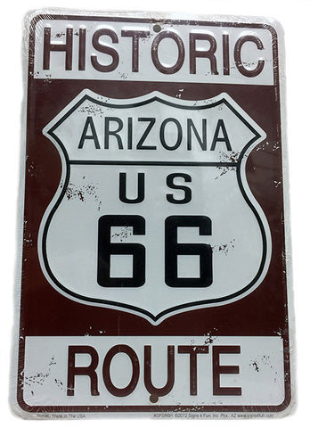 Historic Route 66 Parking Sign