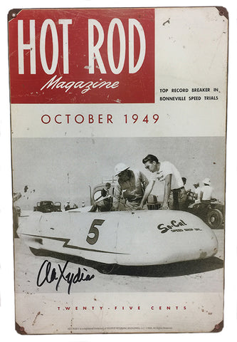 Hot Rod Streamliner Distressed So Cal Sign