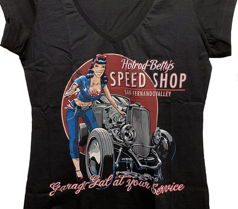 Hotrod Betty's Speed Shop Ladies Tee