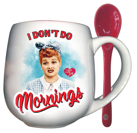 Here's Lucy... I Don't Do Morning Mug with Spoon