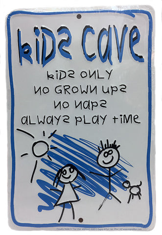 Kids Cave Parking Sign