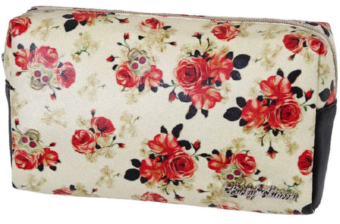 Lucky 13 Vintage Rose Make Up Bag
