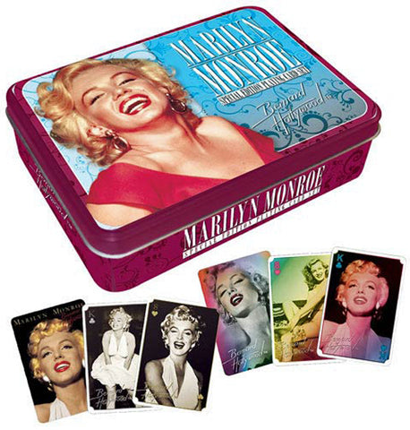 Marilyn Monroe Playing Card Tin Set