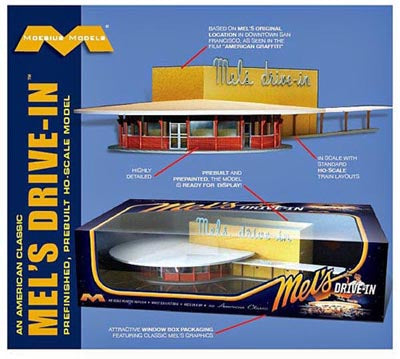 Mels Drive In Pre Built HO Model Kit.