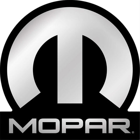 Mopar Embossed Logo Shaped Metal Sign