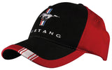 Mustang Embroidered Tri-Bar Logo Cap