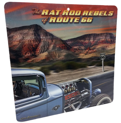 Rat Rob Rebels Route 66 Sign