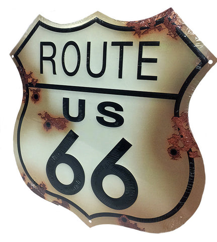 Route 66 Bullet Shield Sign