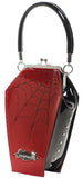 Purse Sparkle Coffin Black & Red